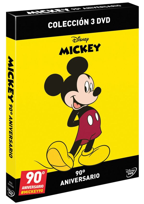 mickey 90 aniversario: ¡échate a reir! vol 1+ ¡échate a reir! vol 3+¡échate a reir! vol 4 - dvd --8717418539856