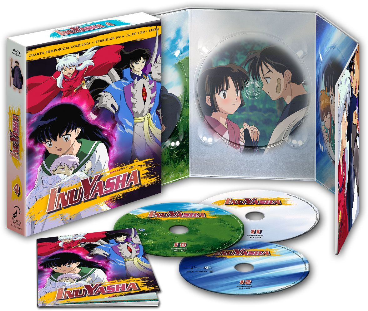 inuyasha box 4 episodios 100 a 132 - blu ray --8420266015723