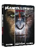pack trilogia planeta de los simios black metal edition - blu ray -                                                      --8420266020741